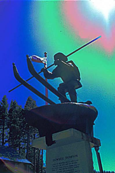 Snowshoe Thompson Monument at Boreal Ridge Ski Resort